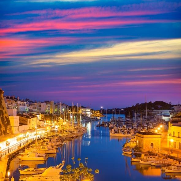 Menorca atardecer