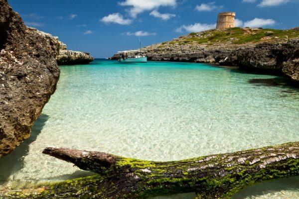 Menorca calas aguas turquesas