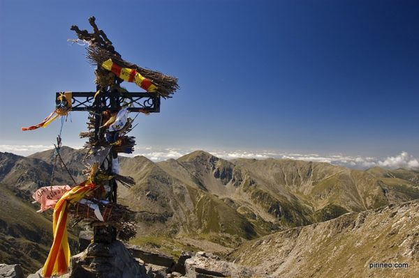 Beautiful landscape of the Pyrenees, the mountain range that separates Spain and France.