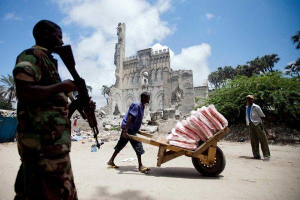 Catedral de Mogadiscio construida por los italianos cuando era colonia y destruida por las numerosas guerras