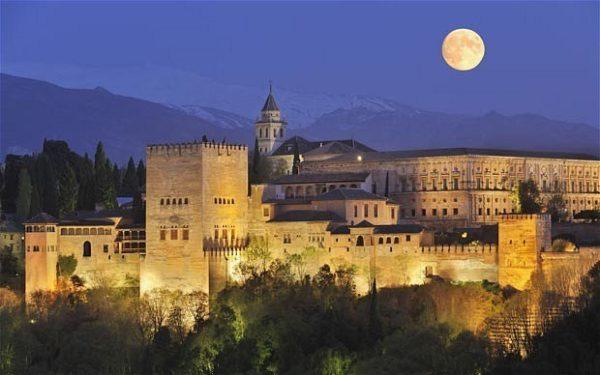 mapa político España - Alhambra