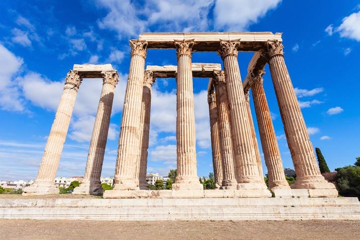 Templo zeus olimpico atenas columnas