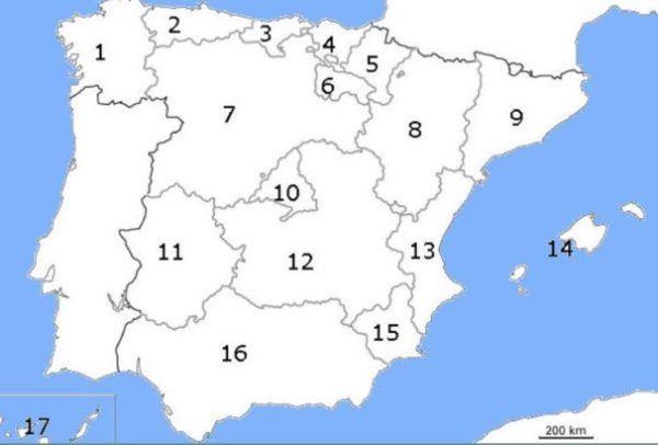 mapa político España