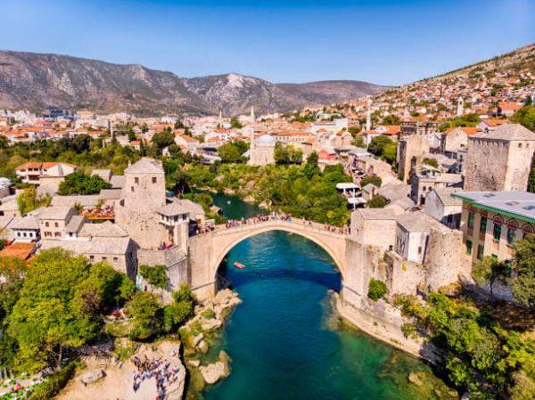Los patrimonios europeos de unesco Mostar, Bosnia y Herzegovina
