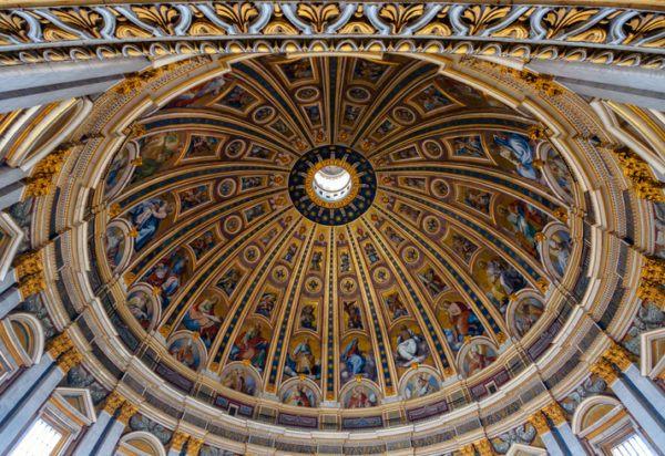 Ciudad vaticano basilica cupula interior