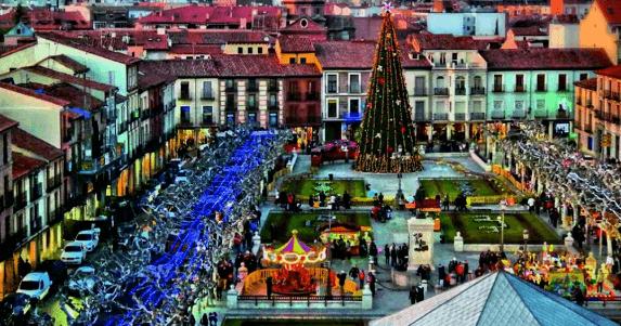 plaza en Navidad de Alcalá de Henares