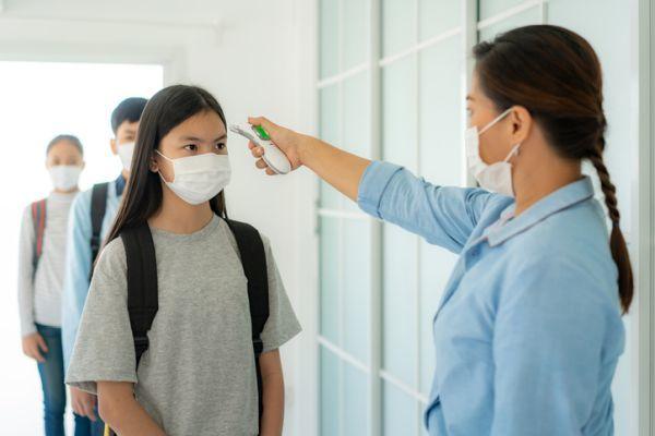 Niños termómetro mascarilla