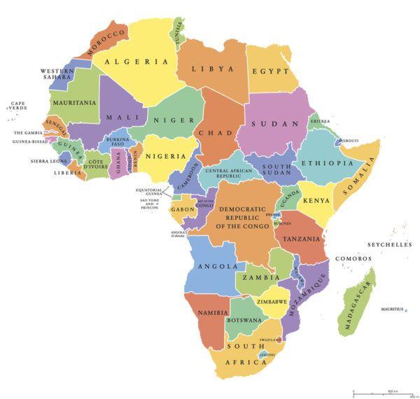 Lista capitales africa paises