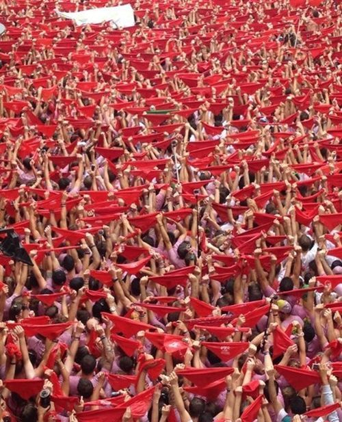 Sanfermines pañuelos rojos