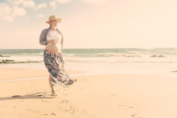 Viajes recomendados para embarazadas  playa