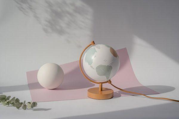 Bola de la Tierra y esfera