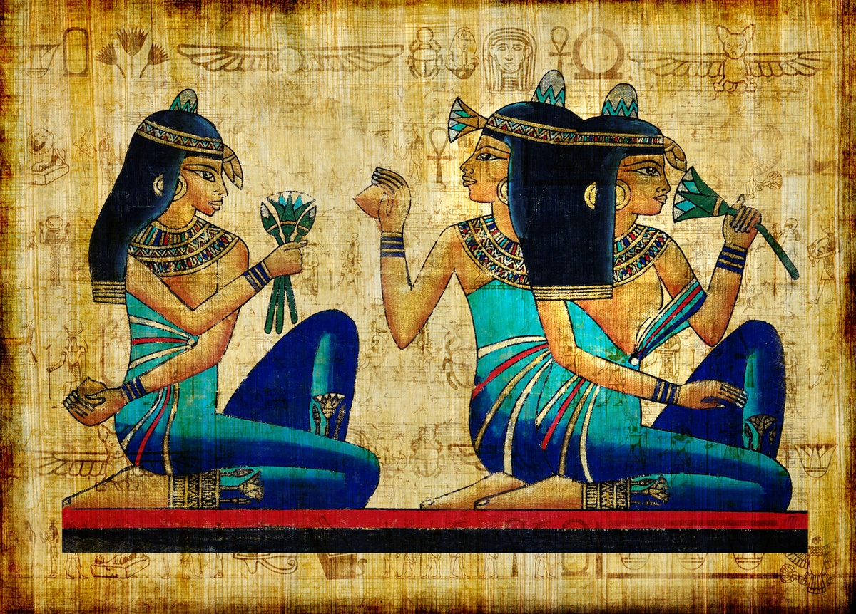 Regalos recuerdo egipto papiro