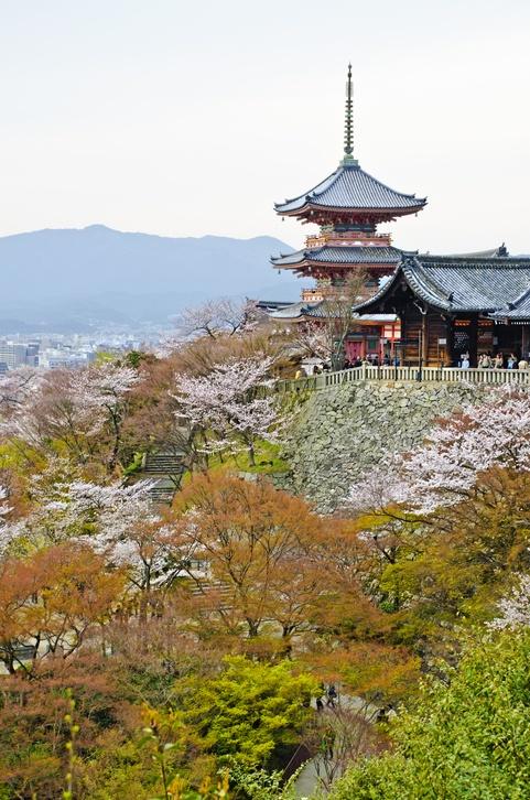 Templo de kiyomizu en japon kyoto