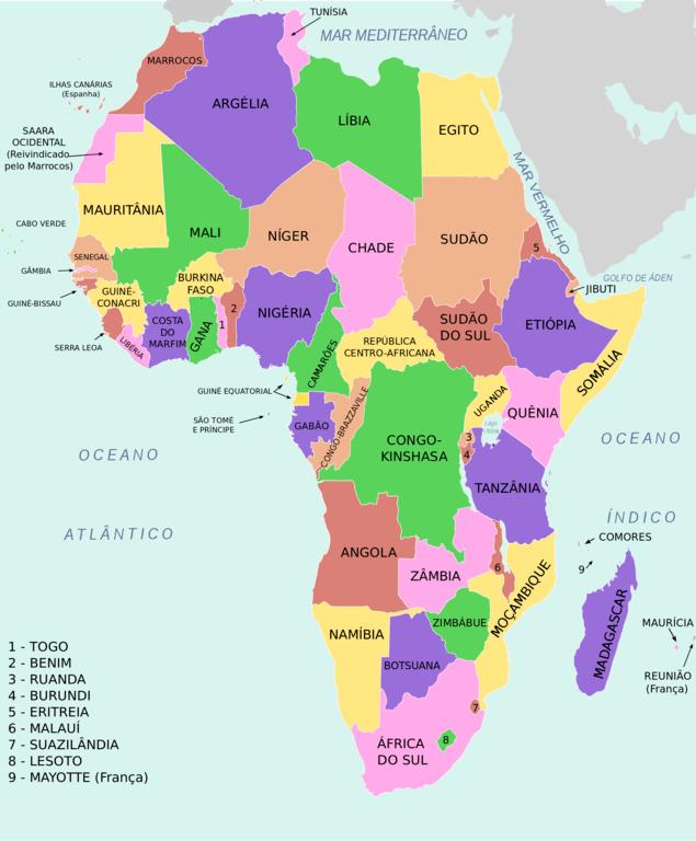 Mapa De Africa Paises.Mapa Politico De Africa Locuraviajes Com