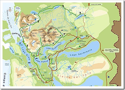 torres del paine, mapa