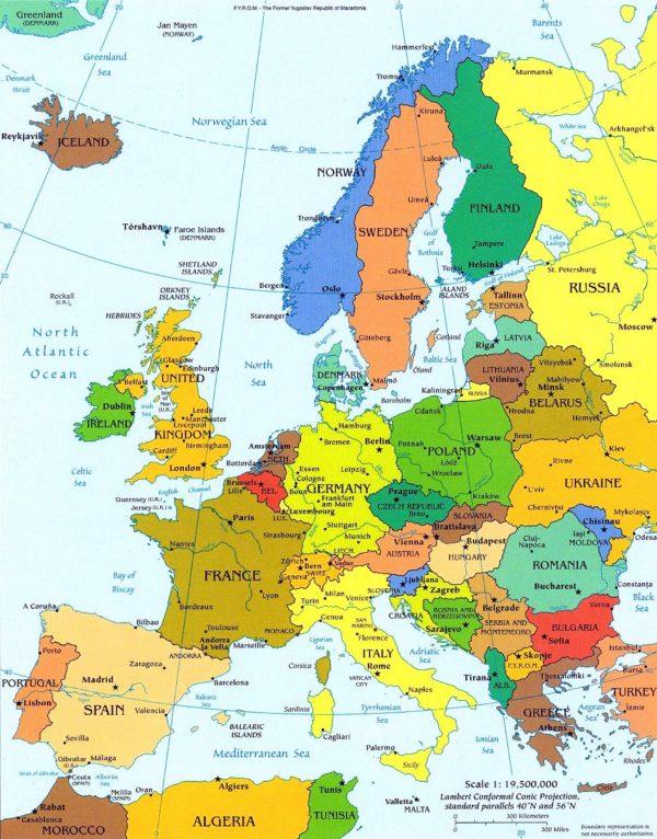 Mapa Politico De Europa Locuraviajes Com