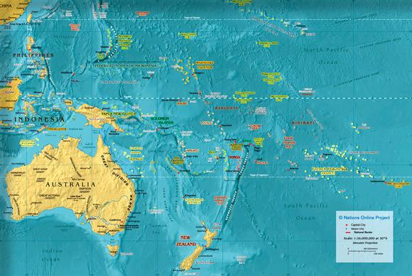 Mapas De Oceania Locuraviajes Com