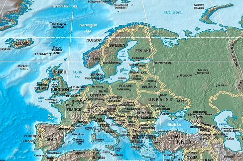 Worksheet. Mapa Fsico de Europa  LocuraViajescom