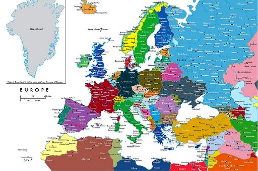 mapa europa paises. de los países europeos,