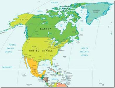 Mapa Poltico de Amrica  LocuraViajescom