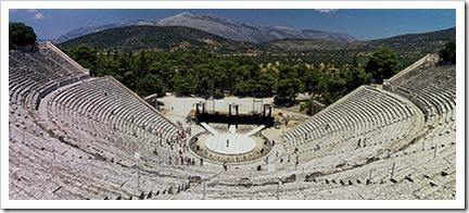 teatro de epidauro, s IV ac, peloponeso, argolida