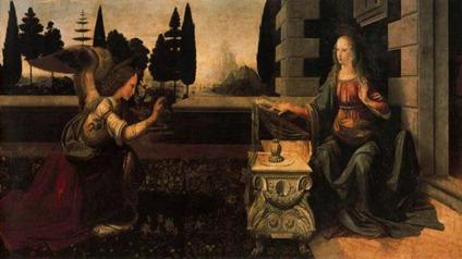 la anunciacion de Leonardo da Vinci