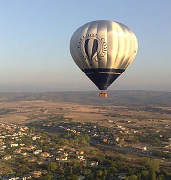 rio guadarrama en globo