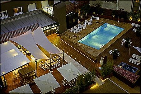 Restaurant, Spa, Swimming Pool, Wellington Hotel, Madrid, Spain./Restaurante, spa, piscina, Hotel Wellington, Madrid, Espana.