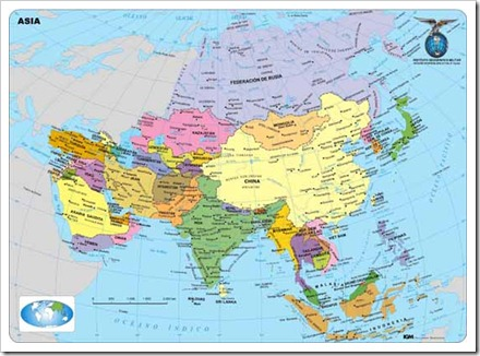 Mapa Poltico de Asia  LocuraViajescom
