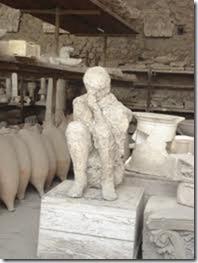 estatua conservada en pompeya