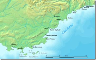 costa azul mapa