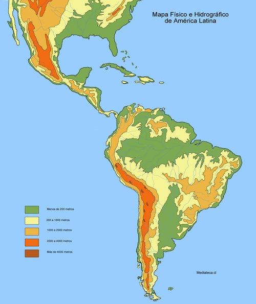 Mapa Fisico De America.Mapa Fisico De America Locuraviajes Com