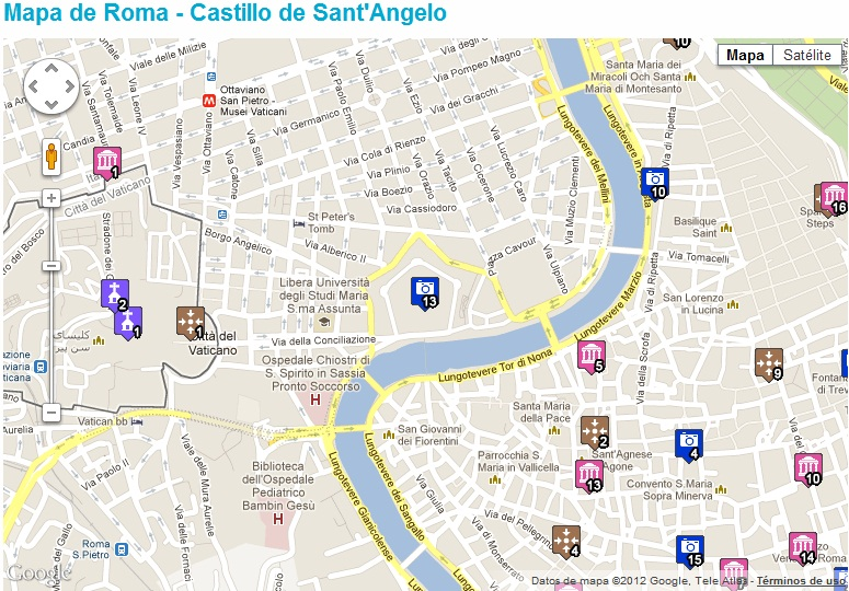 google maps Castillo San Angelo