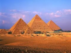 Las pirámides de Gizah en Egipto