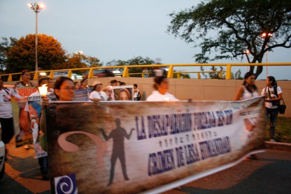Manifestaciones por los desaparecidos en el 2012 en Cali