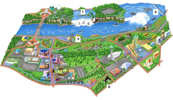 Canada Cataratas Del Niagara Mapa.Las Cataratas Del Niagara Locuraviajes Com