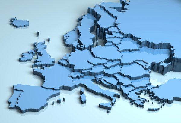 Mapa politico europa en relieve