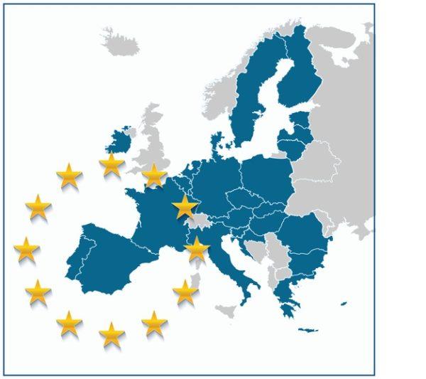 Mapa politico europa union europea