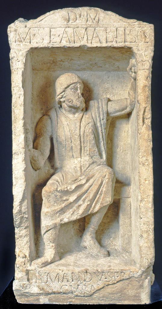 Cipo del escultor Amabilis. Foto perteneciente al ayuntamiento de Burdeos