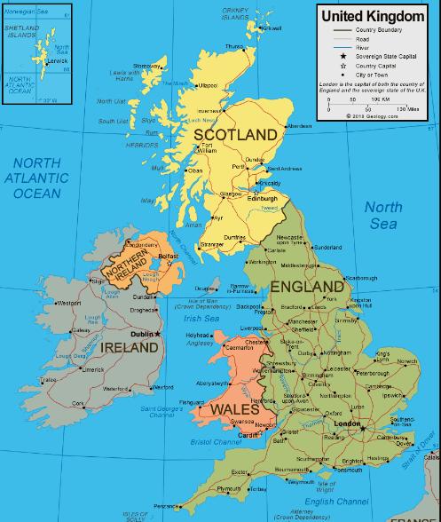 Gran Bretana Mapa Politico.El Mapa Politico De Reino Unido Paises Que Lo Forman Locuraviajes Com