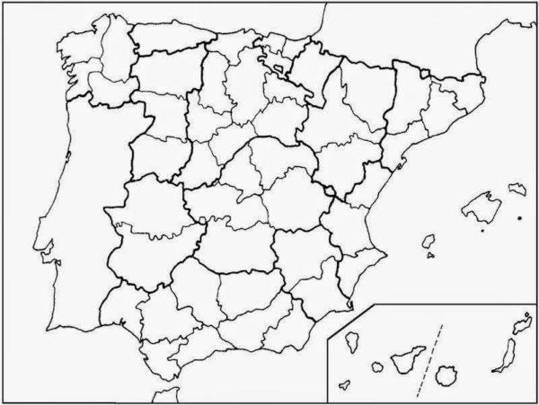 Mapa Politico De Espana Todas Las Comunidades Y Provincias