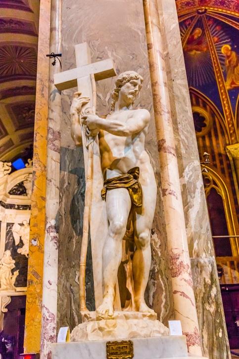 Donde ver obras miguel angel italia cristo minerva