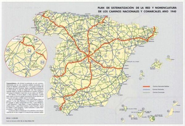 Mapa De Carreteras De Espana Rutas Y Carreteras Para Saber