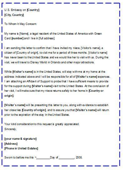 Carta De Invitación Para Visa Americana Trámites Y