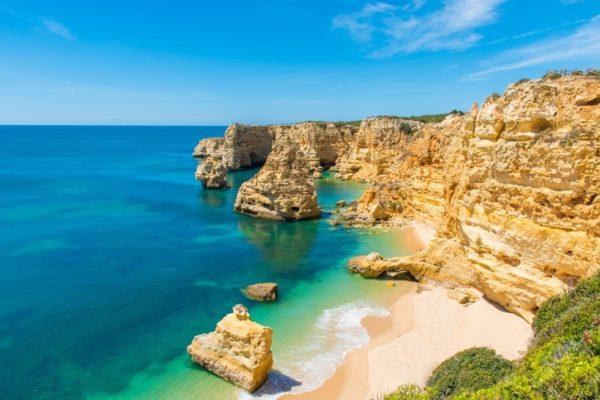 Playas mas bonitas de portugal playa da marinha