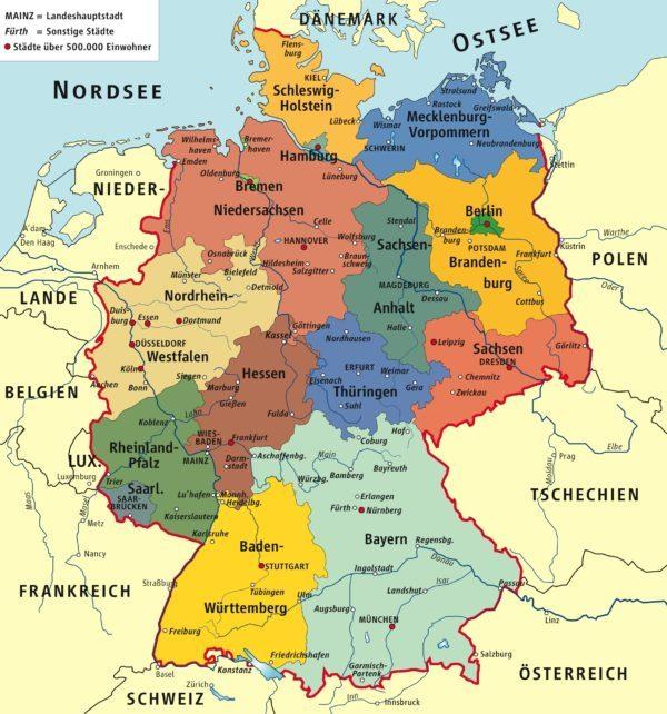 Mapa Político de Alemania